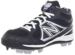 New Balance YB3000 Baseball Cleat (Little Kid/Big Kid),Black/Silver,7 W US Big Kid
