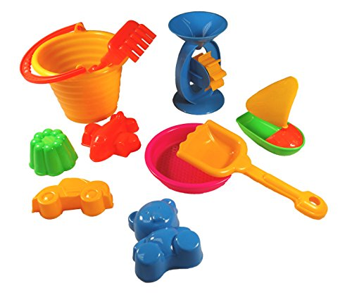 9 Piece Beach Bucket Playset (Colors May Vary)
