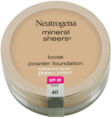 Neutrogena Mineral Sheers Loose Powder Foundation with PureScreen, SPF 20, Nude 40
