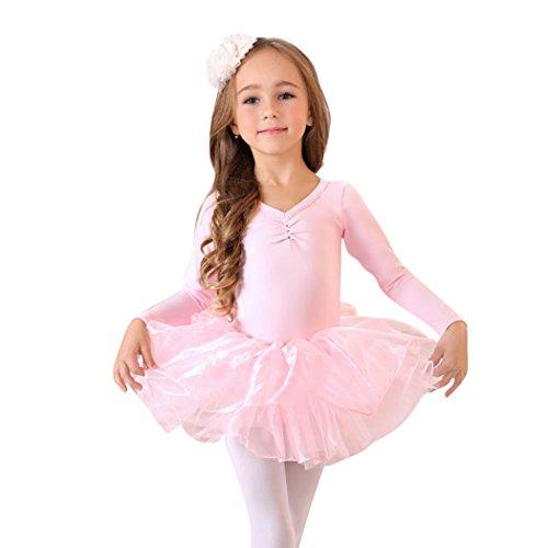 Geschenk-Idee! Prinzessin Design langen Ärmeln zweiteilige Ballett-Ballettröckchen -Kleid, Größe 4-8 , Preis / Stück