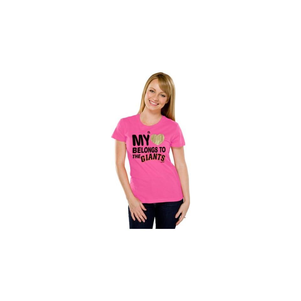 San Francisco Giants Womens My Heart Pink Fashion T Shirt