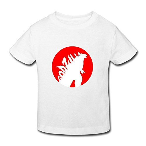 [AOPO Godzilla T Shirts For Toddlers Unisex (2-6 Years) 4 Toddler White] (Sports Day Costume Ideas Blue)