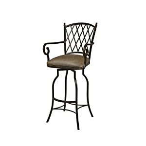 Atrium Upholstered Swivel Barstool with Arms
