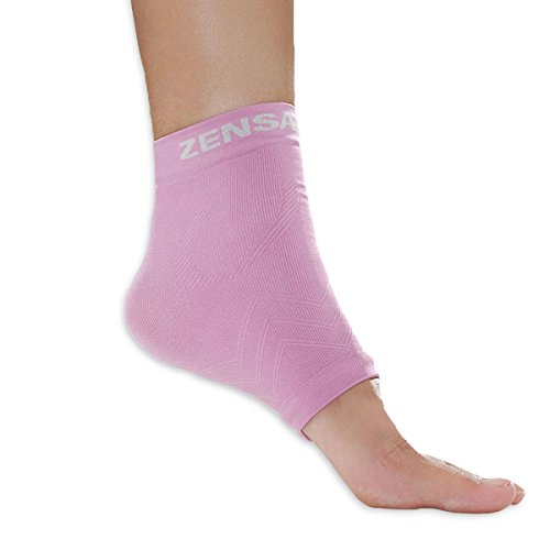 Zensah Unisex Adult Ankle Support, Pink, Small/Medium