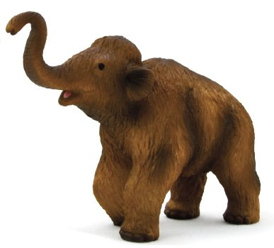 Mojo Fun 387050 Woolly Mammoth: Calf - Realistic Prehistoric Dinosaur Toy Replica
