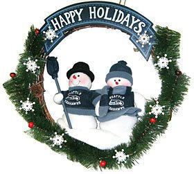 "Seattle Seahawks 20"" Team Snowman Wreath (Please see item detail in description) at Amazon.com"
