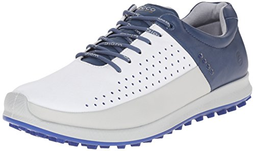 ECCO Men's Golf Biom Hybrid 2 Scarpe da Golf, Uomo, Multicolore(Concrete/White/Denium Blue 56416), 45 EU