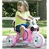 Motorized Cars For Kids-Pink Mini Motorcycle Trike with LED Lights Realistic Driving Experience for Your Little Ones (Color: Pink)