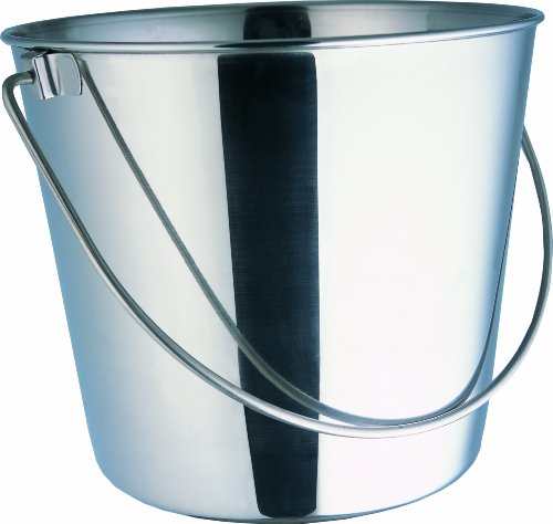 Indipets Heavy Duty Stainless Steel Pail, 2-Quart