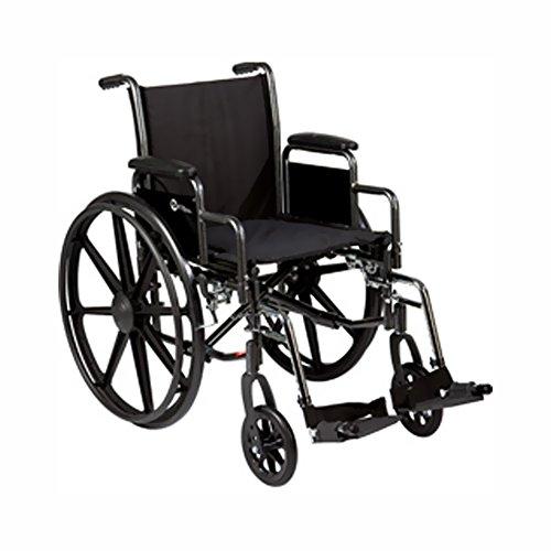 Roscoe Medical K31816Dhrsa K3-Lite Wheelchair Removable Desk-Length Arms , Elevating Legrests Powder-Coated Silver Vein Steel