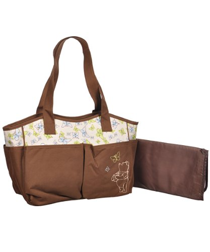 "Winnie the Pooh ""Follow the Butterflies"" Diaper Tote - brown, one size - 1"