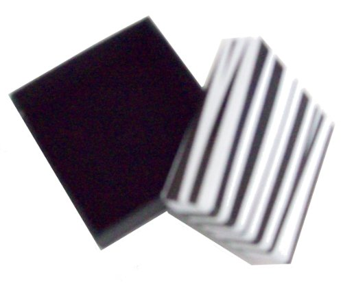 Small Square Black & White Gift Present Box