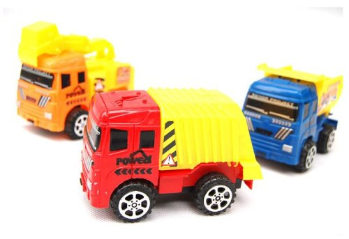 Truck Mobile Machinery Shop ,Mixers, Digging Car Intelligent Toy,assortment Set of 5, Style May Vary - 1