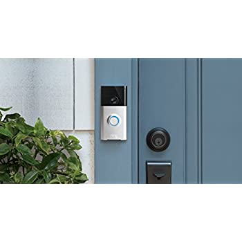 Ring Wi-Fi Enabled Video Doorbell in Satin Nickel