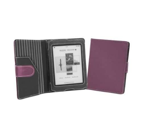 Cover-Up Kobo Mini (5-inch) eReader Cover Case With Auto Sleep / Wake Function (Book Style) - (Purple)