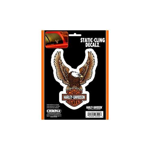 Chroma Graphics Harley Davidson Bar & Shield Decal   Static Cling