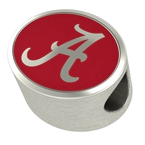 Alabama Crimson Tide Bead Fits All Beaded Charm Bracelets