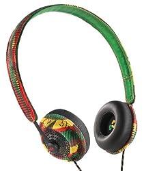 Marley Harambe Earth Friendly On-Ear Headphones-Rasta