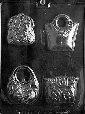 4 PURSES - FASHION Dads and Moms Candy Mold Chocolate
