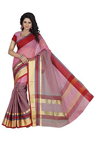 Harsh Sarees Women's Multi Colour Supernet Cotton Saree (GUD-1257_Multi Colour)