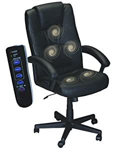 Comfort Products 60-1180X Five-Motor Leather Office Massage Chair, Black