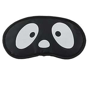 White Cartoon Sad Face Print Blindfold Sleeping Eye Shade Mask Patch
