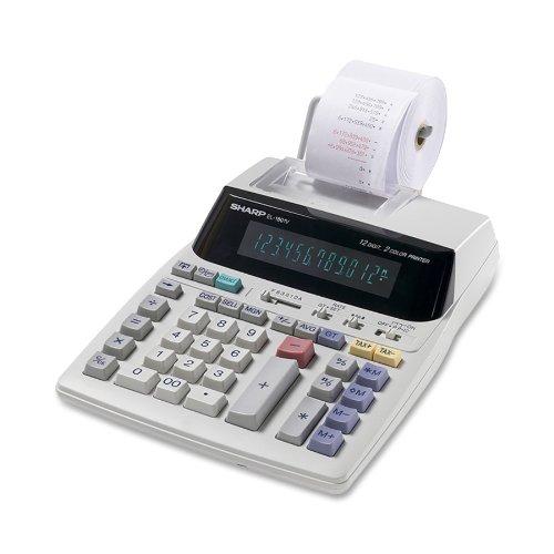 Sharp EL-1801V Portable 12-Digit 2-Color Serial Printing CalculatorB000085CGS
