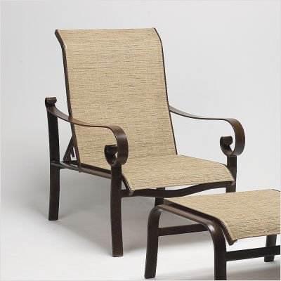 Belden Sling Adjustable Lounge Chair Finish: Pecan, Sling: Cape Code Stripe