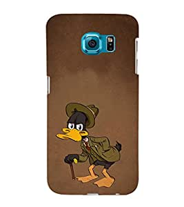 EPICCASE Wicked Old Duck Mobile Back Case Cover For Samsung Galaxy S6 Edge Plus (Designer Case)