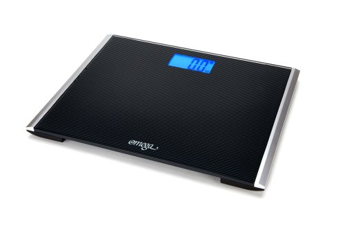 Cheap Omega Precision Ultra Digital Bathroom Scale 440 Lb. Capacity with Ultra Wide Platform and Step-on Technology (OM427)
