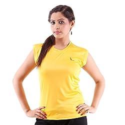 Miauw Women's T Shirt (BCA-204 _Yellow_XX-Large)
