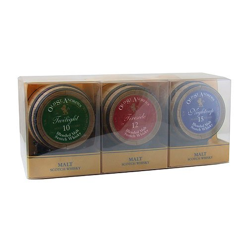 Old St. Andrews Coopers Choice 3 Barrel Miniature Whisky Gift Pack