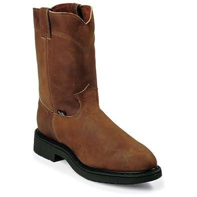 Amazon.com: Justin Men's Original Work Boot Steel Toe: Industrial And