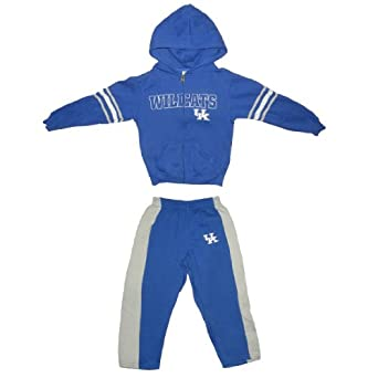 2Pcs:NCAA Kentucky Wildcats Boys Athletic Zip-Up Hoodie & Pants Set by NCAA