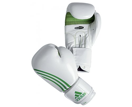 ADIDAS Box Fit ClimaCool Boxhandschuhe, Weiß/Grün, 283g