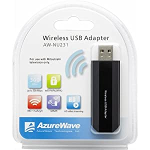 Mitsubishi AWNU231 IEEE 802.11n USB Wi-Fi Adapter (Discontinued by Manufacturer)