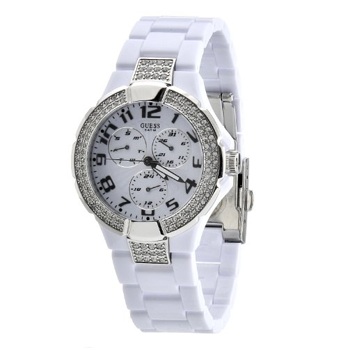 Guess White Dial Ladies Watch - W13564L1