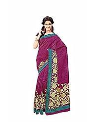 First Loot Designer Party Wear Raw Silk Maroon Saree -2365