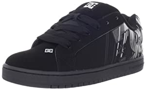 DC Den's Court Graffik SE Sneaker,Black/Met Silver,11 D US