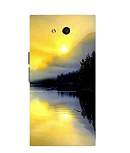 Snazzy Nature Printed Multicolor Soft Silicon Back Cover For LYF Wind 4