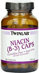 TWINLAB NIACIN (B-3) 500MG, 100 CAP