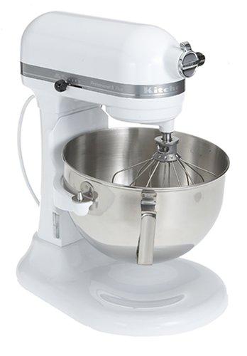 KitchenAid KV25GOXWH Professional 5 Plus 5-Quart Stand Mixer, White