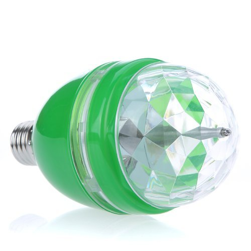 Good Market 1Pcs Full Color Led Rgb Rotating Lamp With Remote Sound-Activated Stage Dj Light Bulb 3W E27 85-260V (Green)