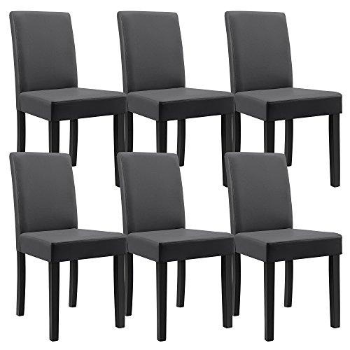 Massiv Esszimmer Comforafrica: [en.casa] Esstisch Eiche Antik Mit 6 Stühlen Dunkelgrau