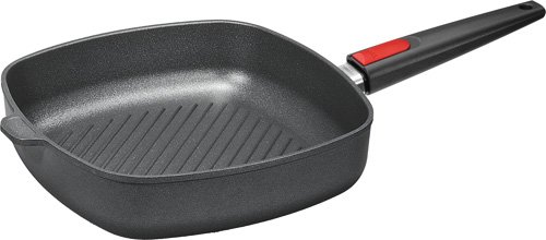 Woll Nowo Titanium Square Grill Pan with Detachable Handle, 11-Inch