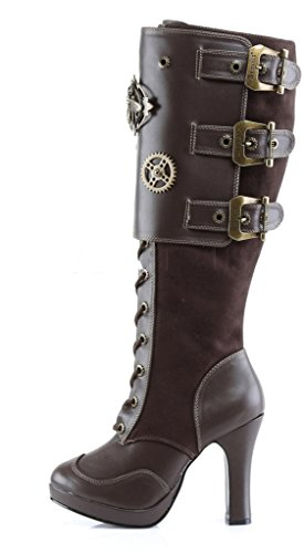Womens-Demonia-Crypto-302-Knee-Boot-Brown