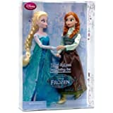 Disney Frozen Princess Elsa & Anna Ice Skating Doll Set 11.5""