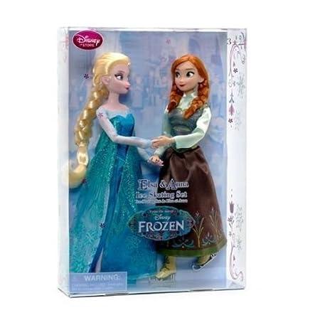 Disney officiel Frozen 29cm princesse Elsa & Anna Patinage Poupée