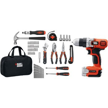 Find Bargain Black & Decker LDX112PK Lithium Drill and Project Kit, 12-volt