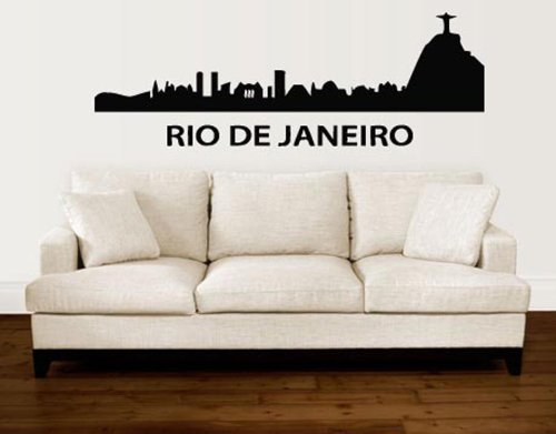 Wall Decor Vinyl Decal Sticker Rio De Janeiro Brazil City View Tz2065